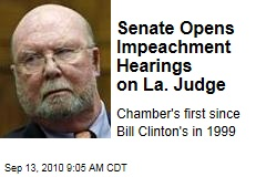 Senate Opens Impeachment Hearings on La. Judge