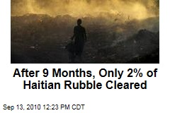 After 9 Months, Only 2% of Haitian Rubble Cleared