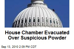 House Chamber Evacuated Over Suspicious Powder