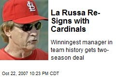 La Russa Re-Signs with Cardinals
