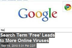 "Search Term ""Free"" Leads to More Online Viruses"