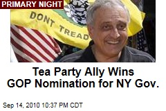 Tea Party Ally Wins GOP Nomination for NY Gov.
