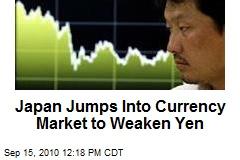 Japan Jumps Into Currency Market to Weaken Yen