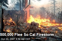 500,000 Flee So Cal Firestorm