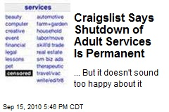 Craigslist Says Shutdown of Adult Services Is for Good