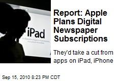 Report: Apple Plans Digital Newspaper Subscriptions