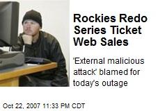 Rockies Redo Series Ticket Web Sales
