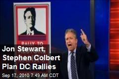 Stewart, Colbert Announce DC Rallies