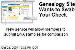 Genealogy Site Wants to Swab Your Cheek