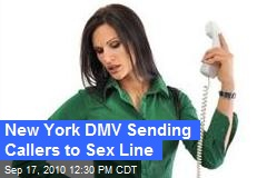 New York DMV Sending Callers to Sex Line
