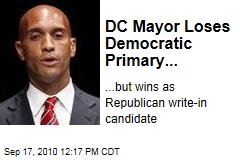 DC Mayor Loses Democratic Primary...