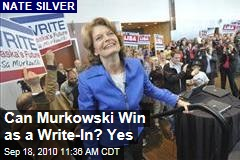 Can Murkowski Win as a Write-In? Yes