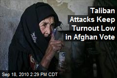 Taliban Attacks Keep Turnout Low in Afghan Vote