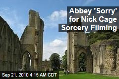 Abbey 'Sorry' for Nick Cage Sorcery Filming