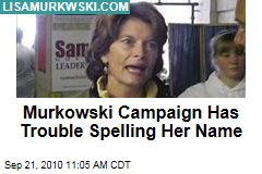 Murkowski Campaign Has Trouble Spelling Her Name