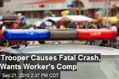 Ex-Trooper Causes Crash, Wants Compensation