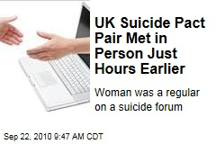 UK Suicide Pact Pair Met in Person Just Hours Earlier