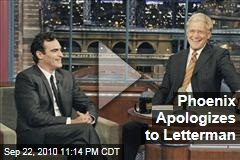 Phoenix Apologizes to Letterman