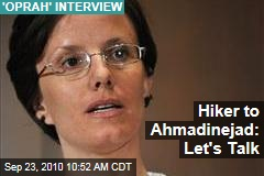 Hiker to Ahmadinejad: Let's Talk