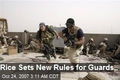 Rice Sets New Rules for Guards