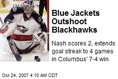 Blue Jackets Outshoot Blackhawks
