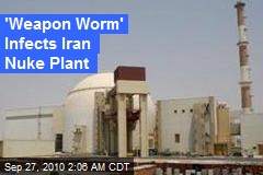 'Weapon Worm' Infects Iran Nuke Plant