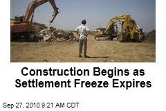 Construction Begins as Settlement Freeze Expires