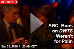 ABC: Boos on DWTS Weren't for Palin