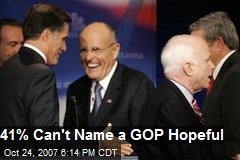 41% Can't Name a GOP Hopeful