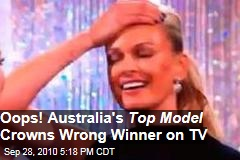Oops! Aus 'Top Model' Announces Wrong Winner