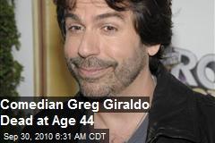 Comedian Greg Giraldo Dead, 44