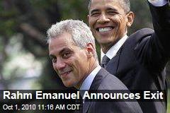 Rahm Emanuel Announces Exit
