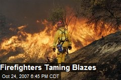 Firefighters Taming Blazes
