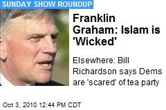 Franklin Graham: Islam is 'Wicked'
