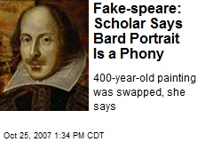 Fake-speare: Scholar Says Bard Portrait Is a Phony