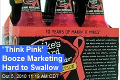 Think Pink Booze Marketing Hard to Swallow