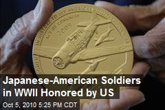 Congressional Gold Medal awarded Japanese soldiers