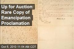 RFK Copy of Emancipation Proclamation at Auction