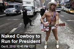Naked Cowboy Announces for Presidency
