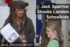Jack Sparrow Surprises London Schoolgirls