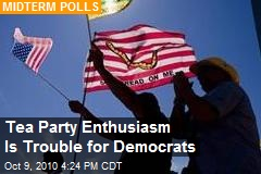 Tea Party Enthusiasm Is Trouble for Democrats