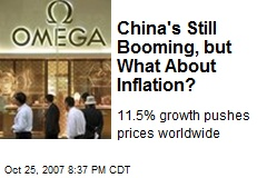 China's Still Booming, but What About Inflation?