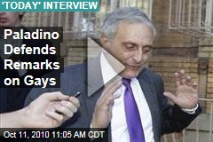 Paladino Defends Remarks on Gays