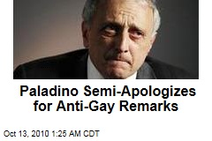 Paladino Semi-Apologizes for Anti-Gay Remarks
