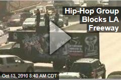 Video: Hip-Hop Group 'Imperial Stars' Block Los Angeles 101 Freeway
