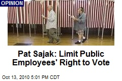 Pat Sajak: Limit Public Employees' Right to Vote