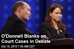 O'Donnell Blanks on Court Cases in Debate