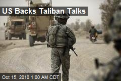 US Backs Taliban Talks