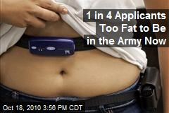 US military: recruits too fat to fight.