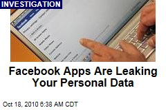 Facebook Apps Transmitting Personal Data to Firms